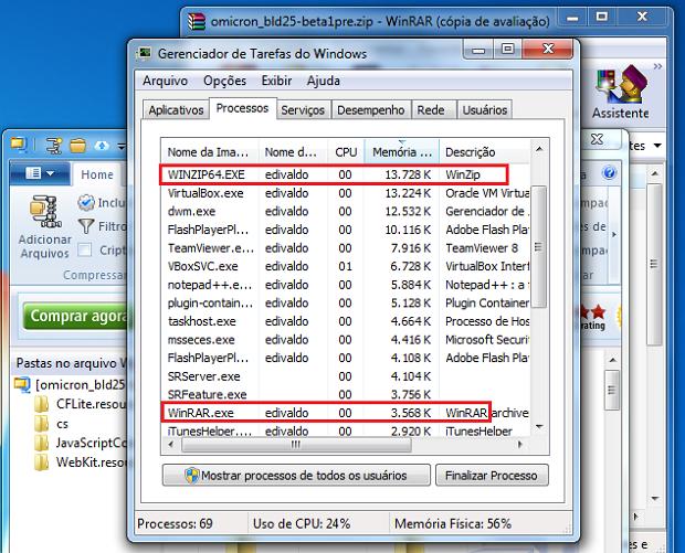 Winzip ou WinRAR: qual o melhor para compactar e descompactar