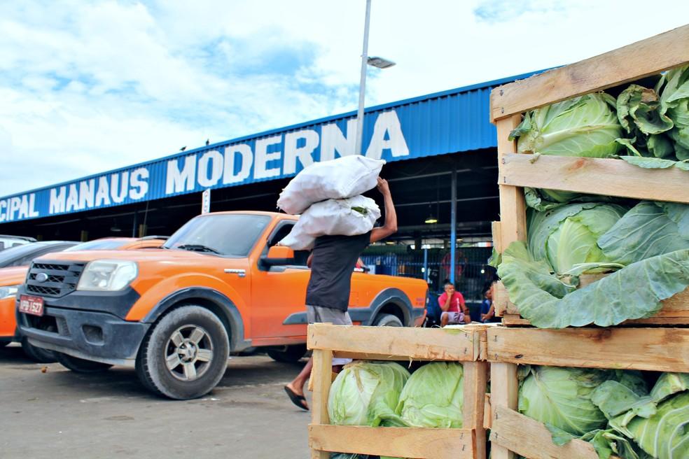 Feira Manaus Moderna fica no Centro da capital amazonense (Foto: Leandro Tapajós/G1 AM)