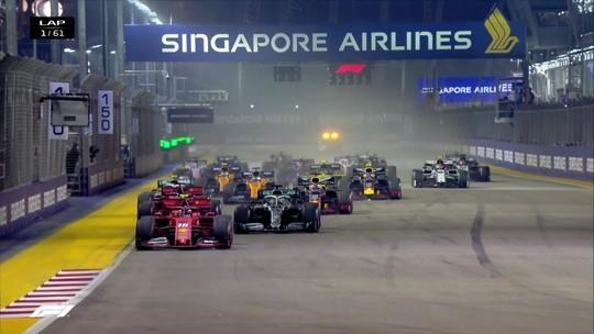 Vettel supera Leclerc, vence em Singapura e quebra jejum de 22 corridas sem vitória na Fórmula 1