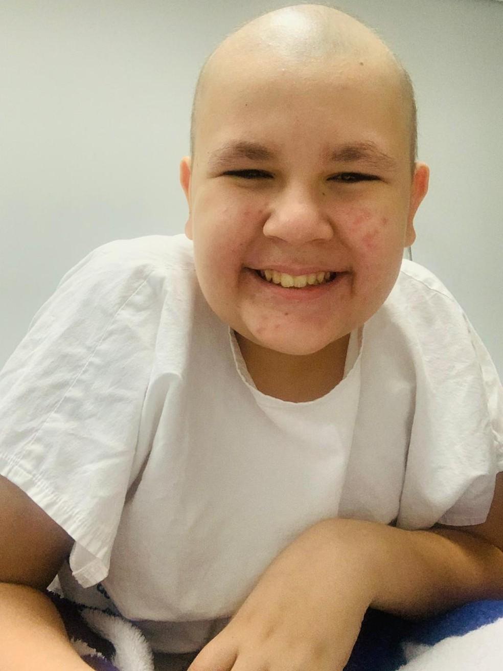 Walmir Neto precisa de tratamento mais avançado, segundo a mãe — Foto: Arquivo pessoal