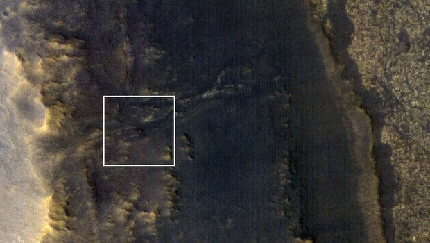 No destaque, a sonda Opportunity, que estava perdida e foi encontrada pela Nasa  (Foto: Divulgação/Nasa)