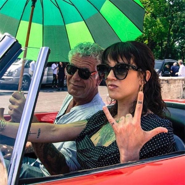 Anthony Bourdain e Asia Argento (Foto: Instagram)