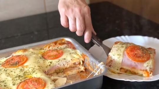 Lanche de forno rápido e gostoso para o café da tarde