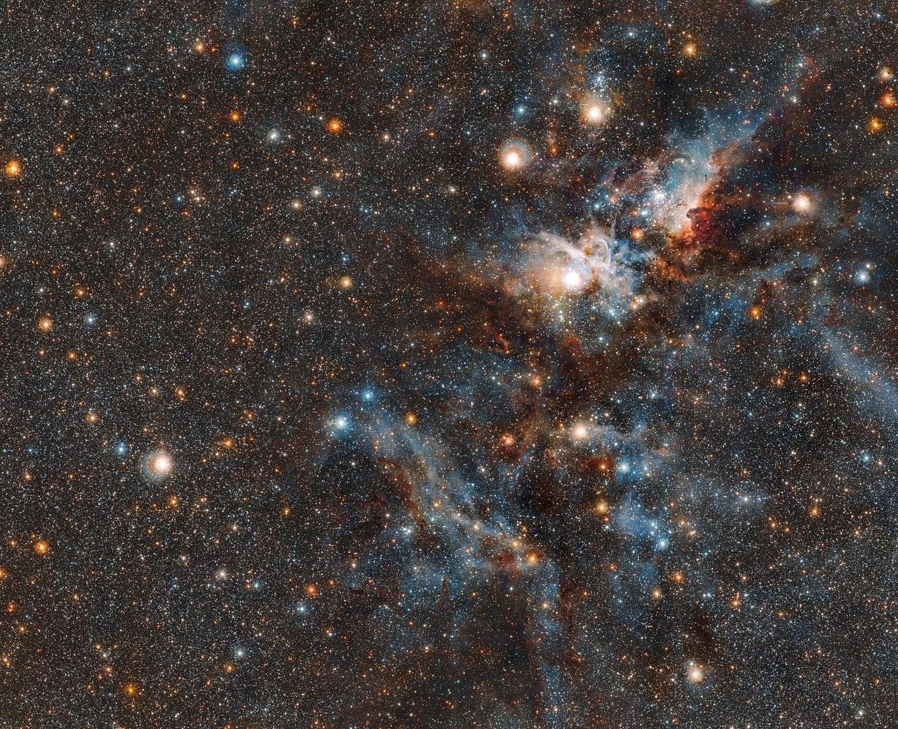 Visão mais ampla da Nebulosa Carina (Foto: ESO)