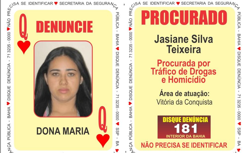 Presa em SP, traficante mais procurada da BA tem condenação por morte de agente penitenciário — Foto: Divulgação/SSP-BA