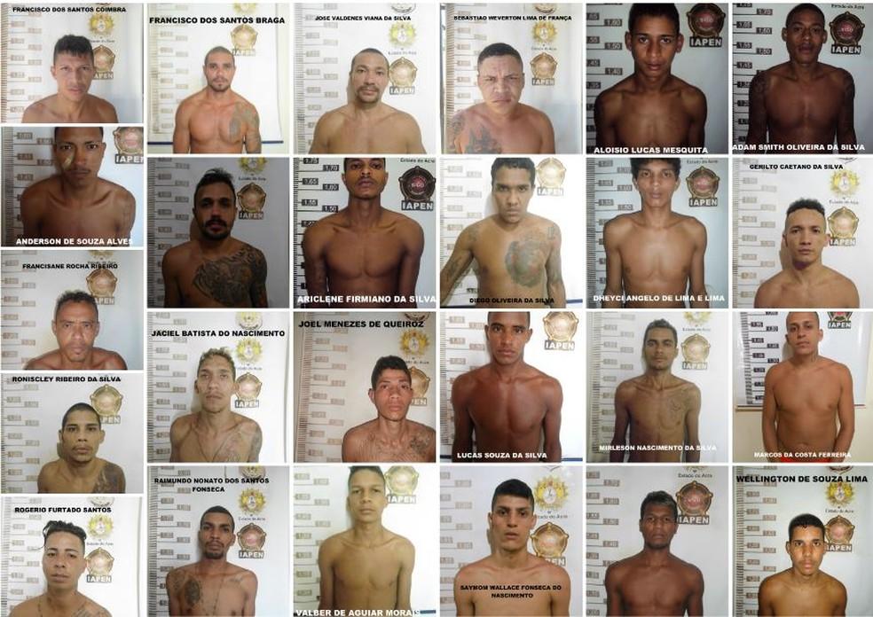 No AC, 25 presos continuam foragidos após fuga em massa  — Foto: Divulgação/Iapen-AC