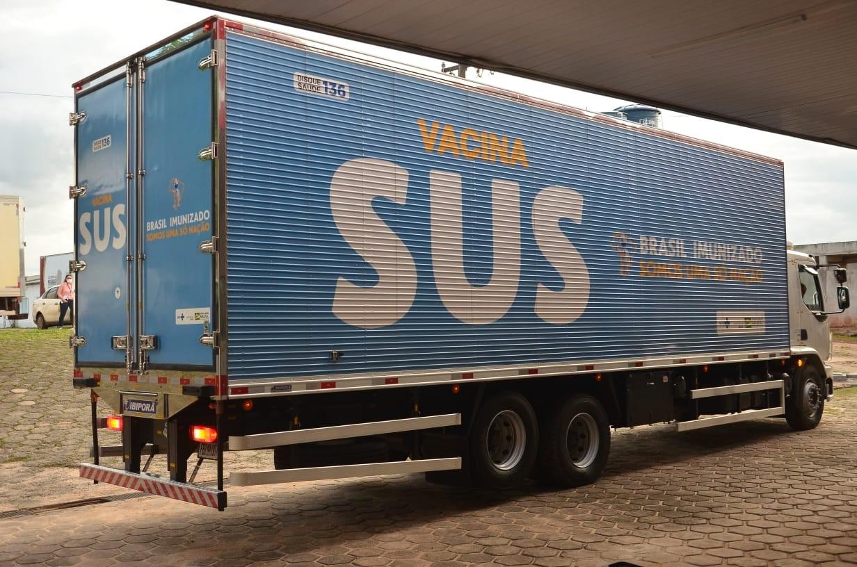 Maranhão recebe mais de 119 mil doses de vacinas contra a Covid-19