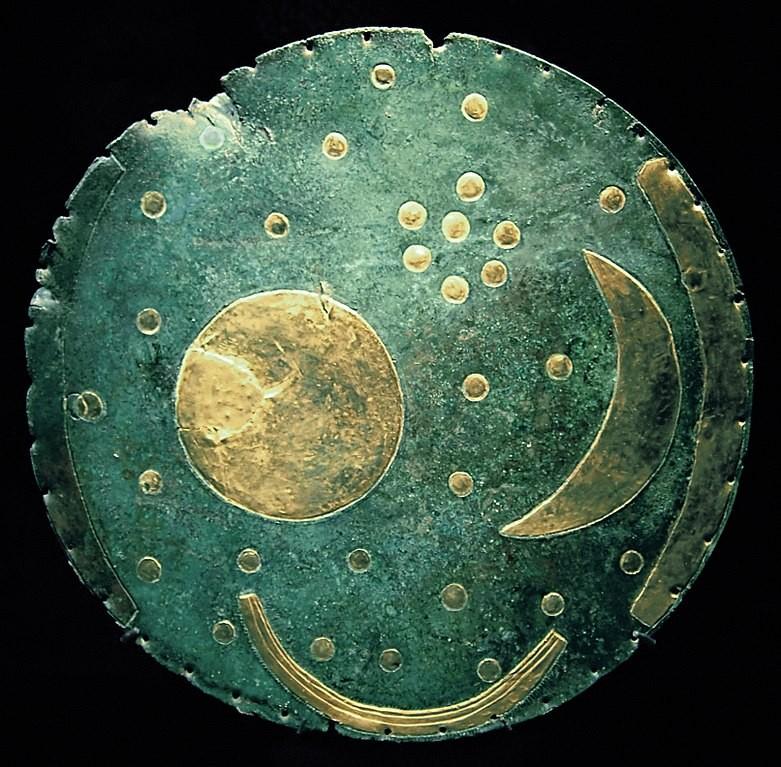 """Disco celeste ou """"Disco de Nebra"""" (Foto: Wikipedia / Dbachmann)"""