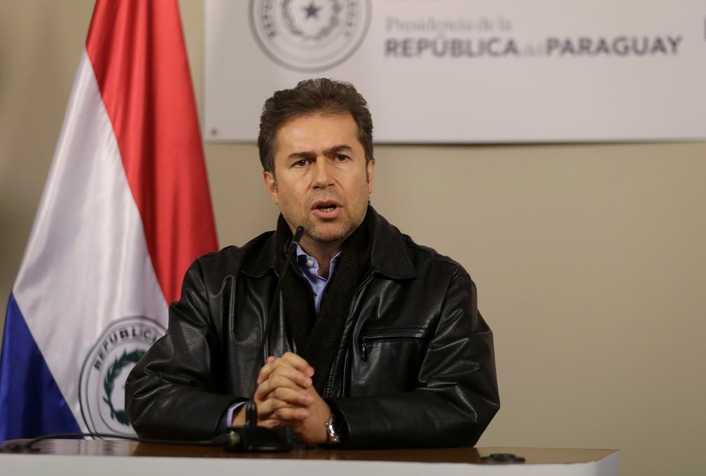 O agora ex-ministro das Relações Exteriores do Paraguai, Luis Alberto Castiglioni. — Foto: Jorge Adorno/Reuters