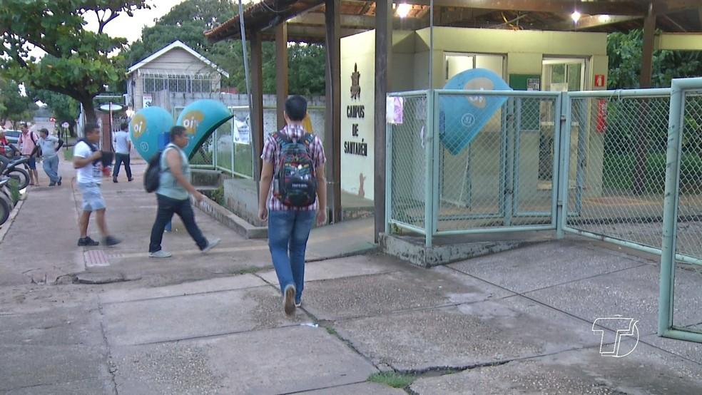 -  Instituto de Educação funciona na Unidade Rondon, da Ufopa  Foto: Reprodução/ TV Tapajós