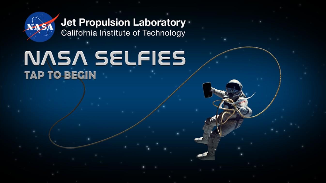 A tela de abertura do aplicativo (Foto: Reprodução/NASA)