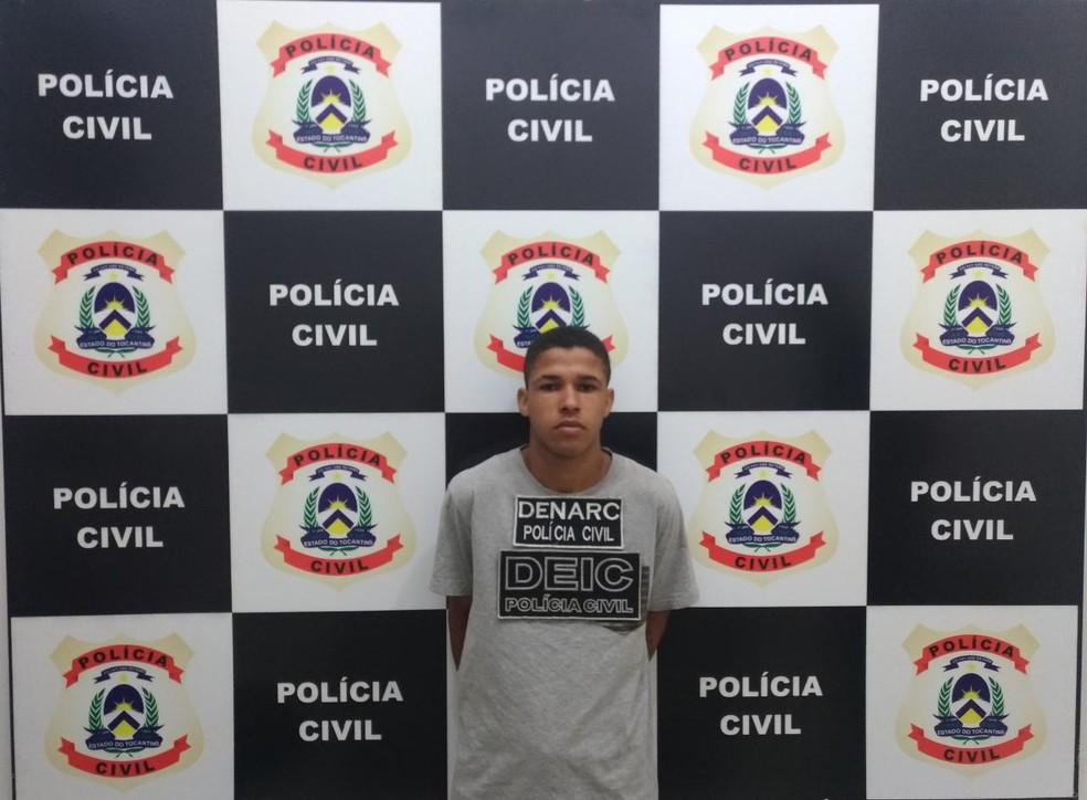 Gustavo Araújo da Silva foi preso suspeito de ser o executor do crime — Foto: Divulgação/Polícia Civil