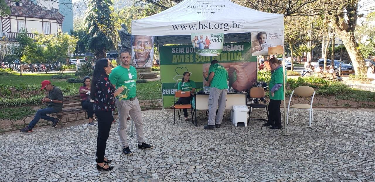 Petrópolis, RJ, recebe ação de conscientização sobre doação de órgãos - Notícias - Plantão Diário