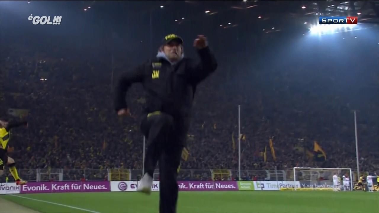 Antes de chegar ao Liverpool, Klopp brilhou no comando do Borussia Dortmund. Não só pelo títulos, mas também por conta das loucas comemorações