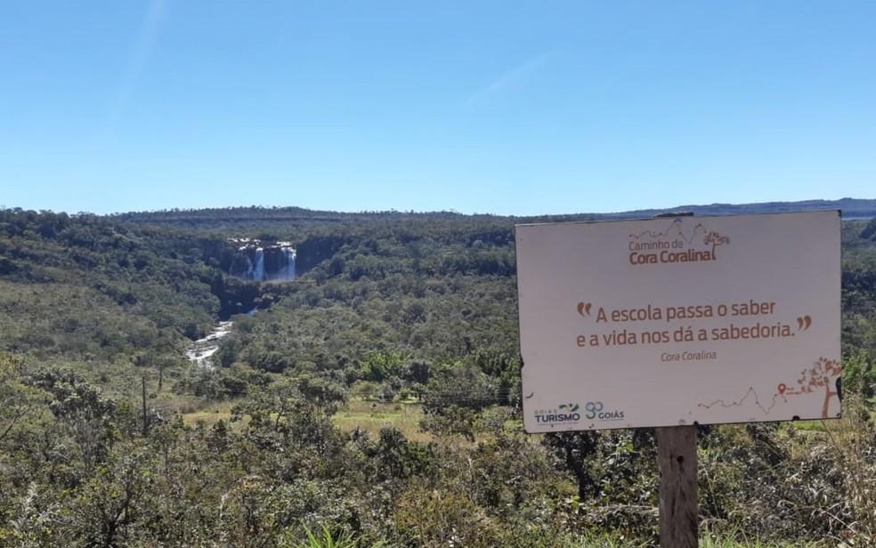 Mirante do Salto de Corumbá, em Corumbá de Goiás, Goiás — Foto: Goiás Turismo/Divulgação