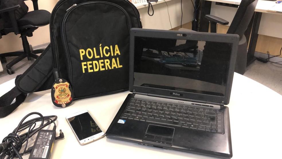 PF faz operação para combater exploração sexual infanto-juvenil na internet — Foto: Polícia Federal/Divulgação