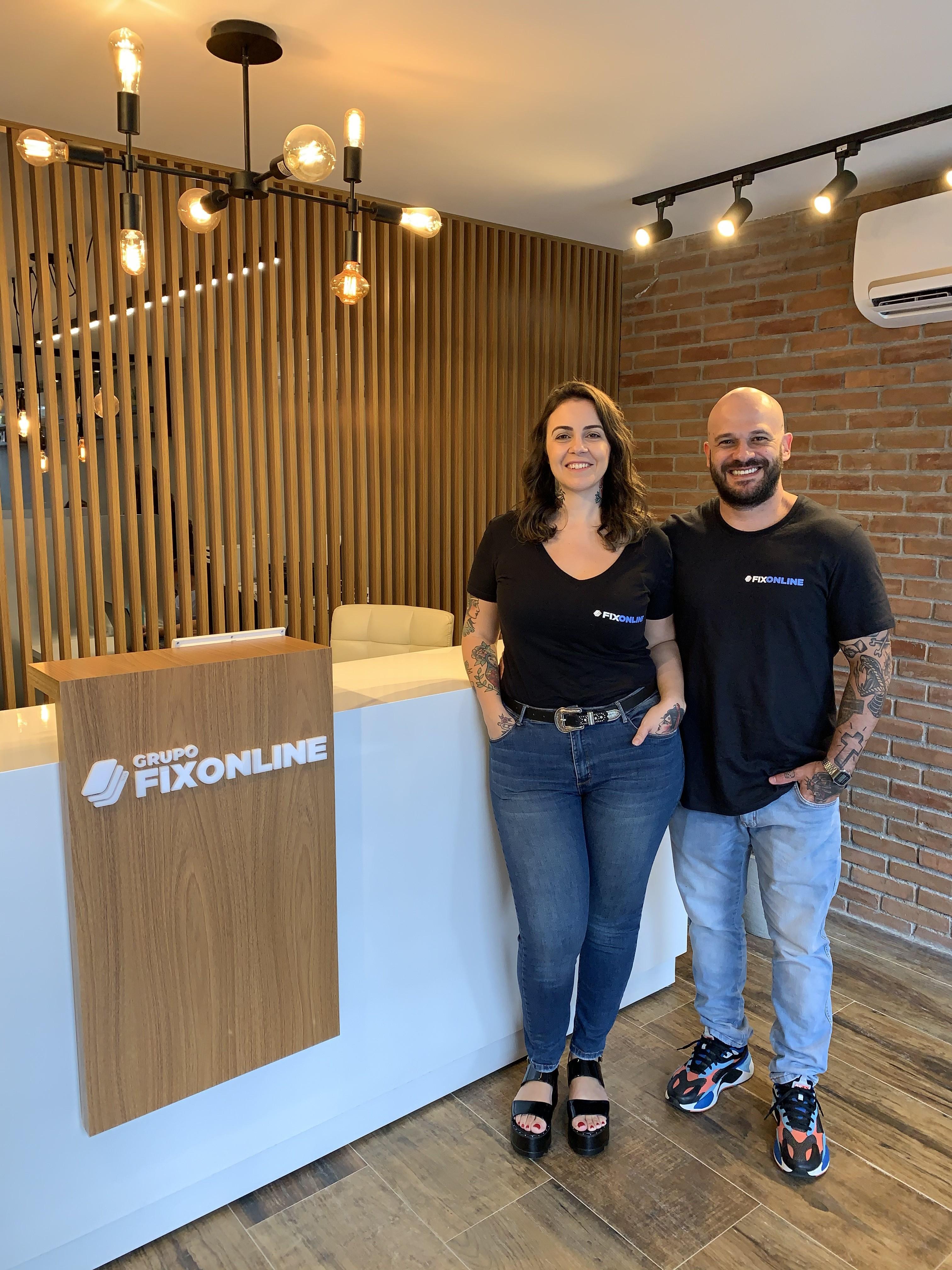 Tatiana Moura e Felipe Rodrigues: casal é sócio na FixOnline