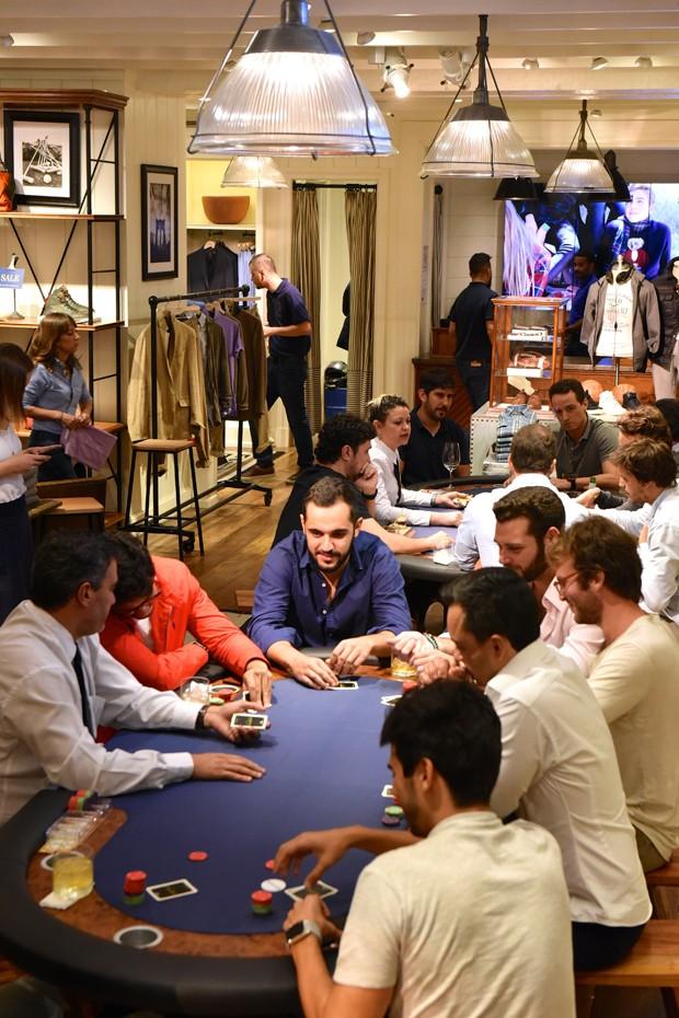 Pôquer na loja da Polo Ralph Lauren (Foto: Divulgação)