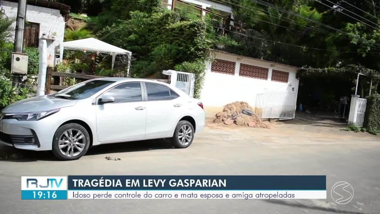 Idoso perde controle de carro e mata esposa e amiga atropeladas em Levy Gasparian