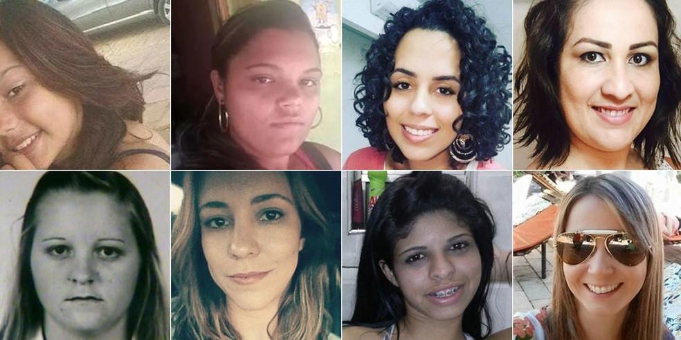 Mulheres vítimas de feminicidio durante a semana (Foto: Arte/G1)