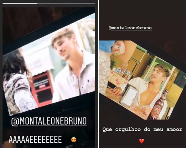 Sasha tietando o namorado, Bruno Montaleone (Foto: Reprodução/Instagram)