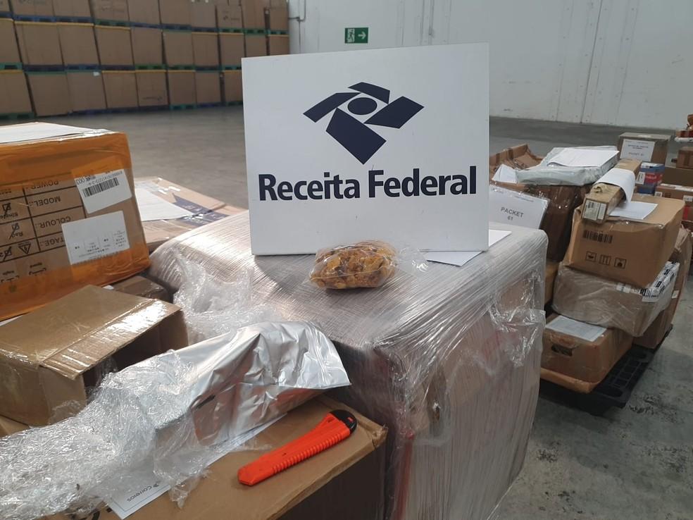 Droga foi encontrada em uma remessa que chegou da Holanda — Foto: Divulgação/RFB