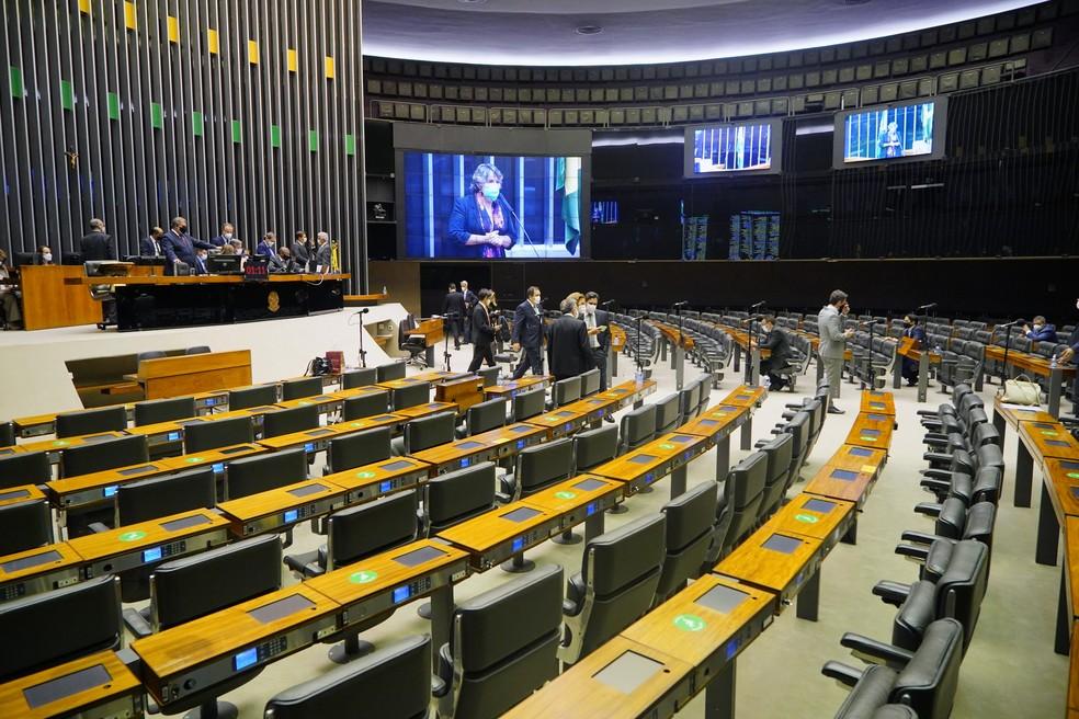 Plenário da Câmara — Foto: Pablo Valadares/Câmara