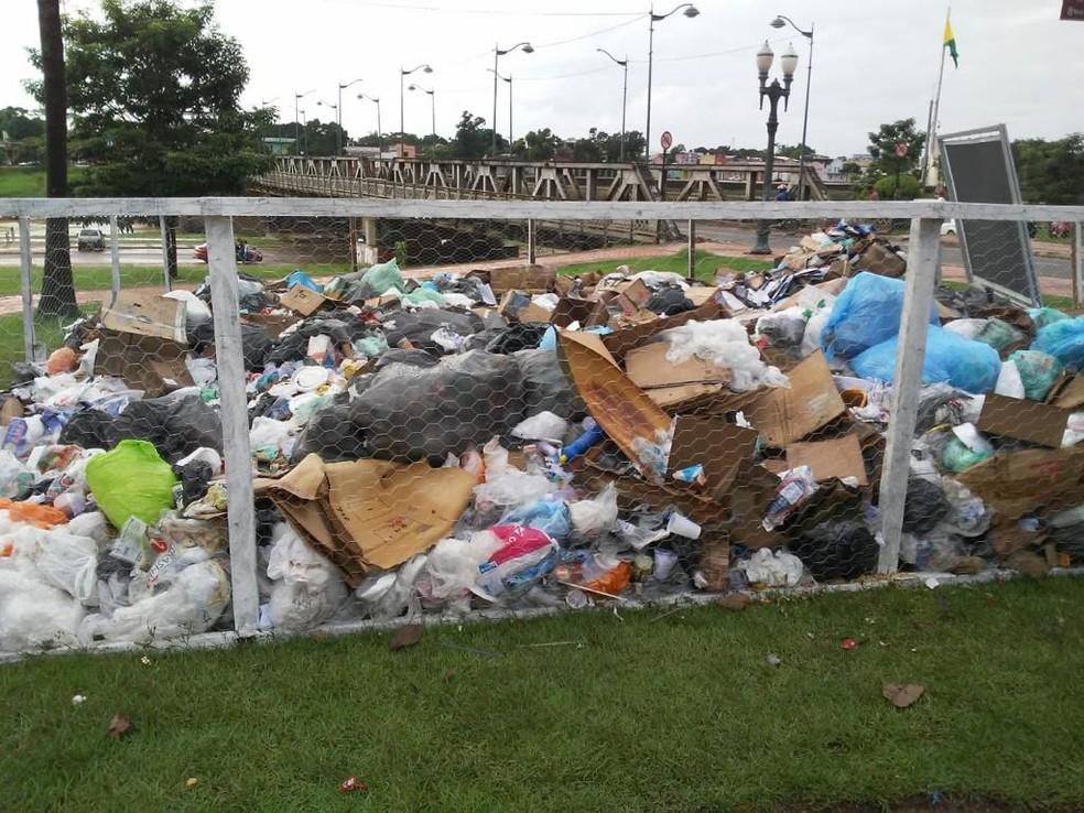 Doze toneladas de resíduos foram coletadas durante uma semana — Foto: Ascom/PMRB