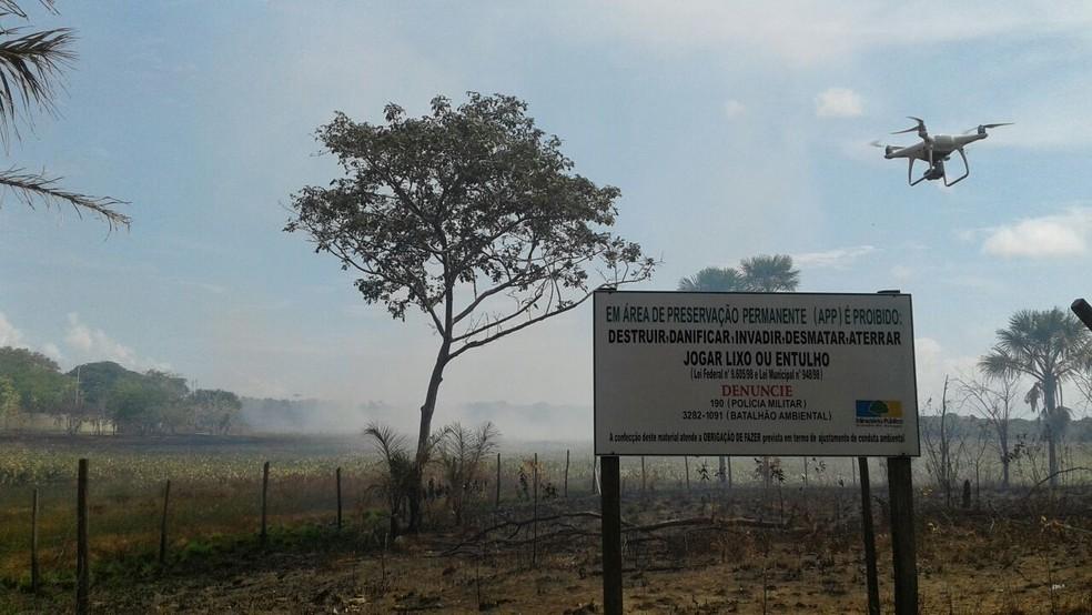 Uso de drone será usado no monitoramento de incêndios no Amapá (Foto: Divulgação/Dema AP)