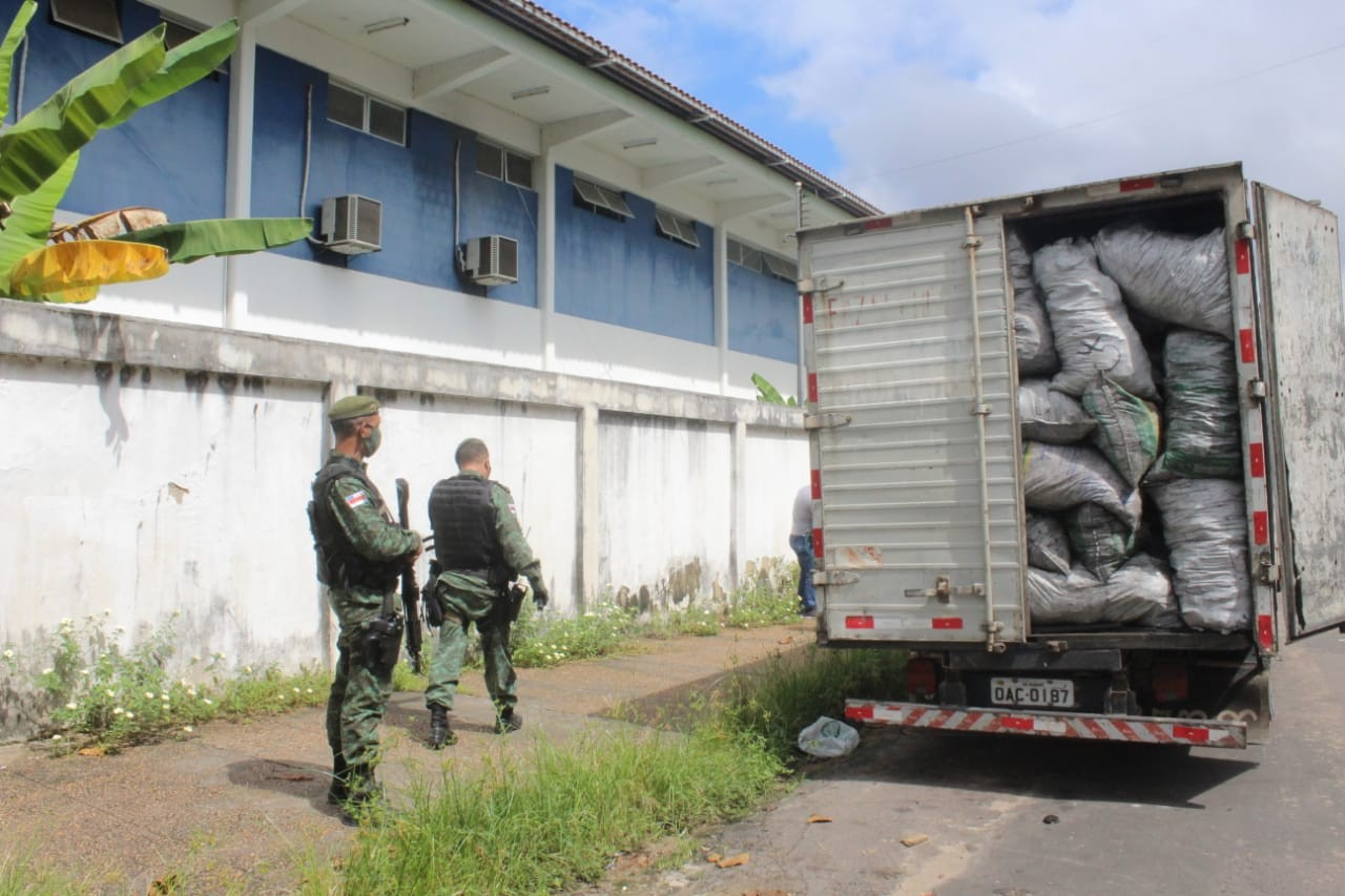 Dois caminhões carregados de carvões e madeiras ilegais são apreendidos no AM; duas pessoas foram detidas