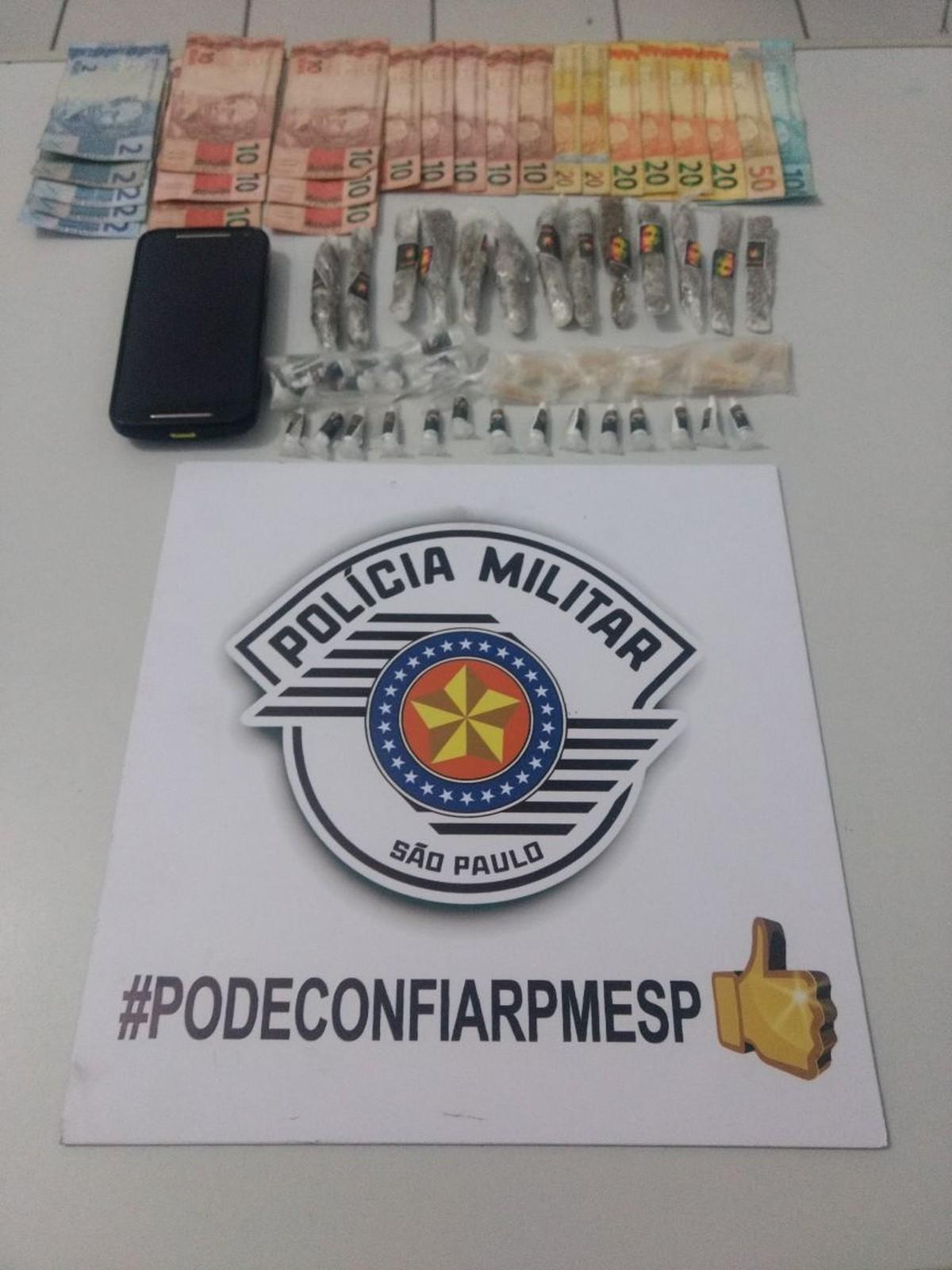 Suspeito de tráfico de drogas é preso em Cajati, SP