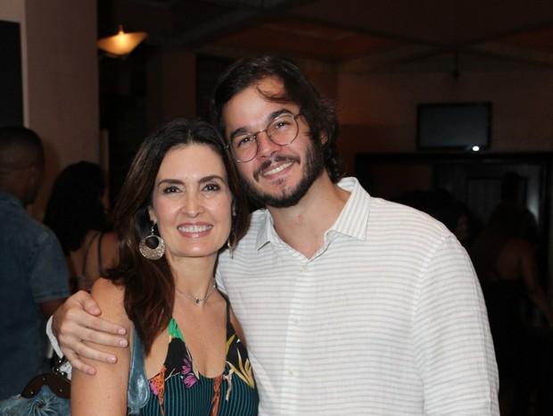 Fátima Bernardes e Túlio Gadelha (Foto: AgNews)