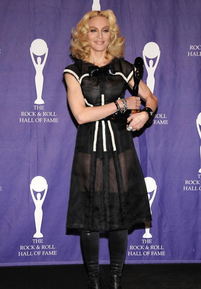Madonna em sua cerimônia de indução ao RRHOF (Foto: Getty Images)