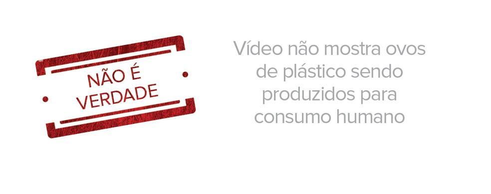 Vídeo não mostra ovos de plástico sendo produzidos para consumo humano (Foto: G1)