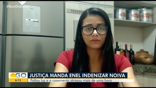 Noiva que deve ser indenizada fala sobre prejuízos da falta de energia no casamento, em Santa Fé de Goiás