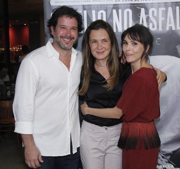 Murilo Benício, Adriana Esteves e Débora Falabella (Foto: Wallace Barbosa/AgNews)