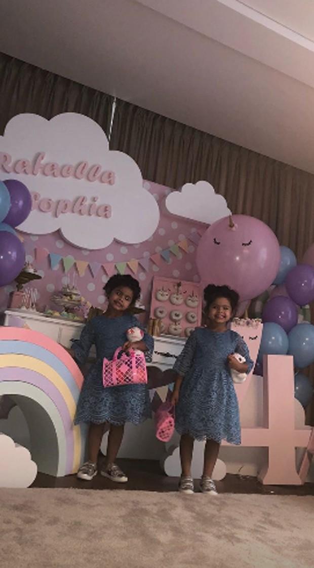 Rafaella e Sophia, filhas de Dani Souza e Dentinho (Foto: Reprodução / Instagram)