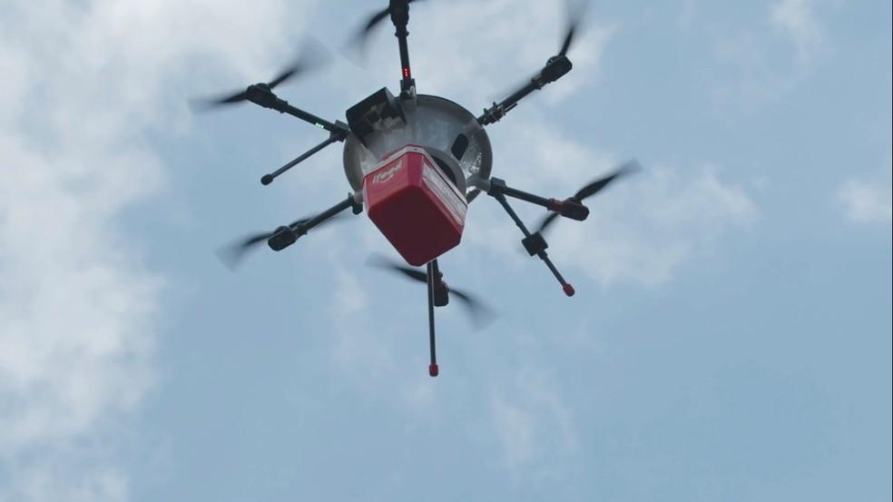 iFood testa entregas a domicílio por drones no Brasil — Foto: Divulgação/iFood