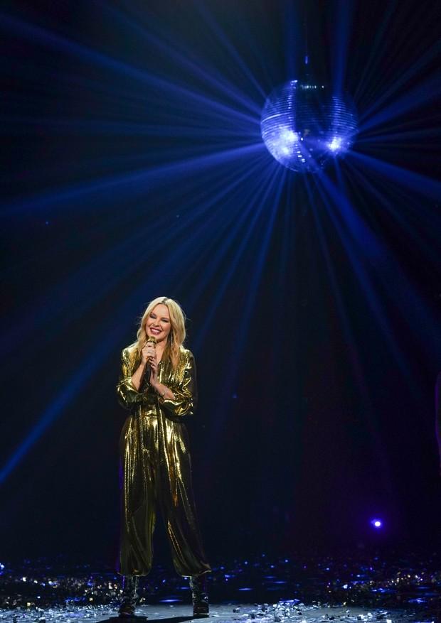 Trecho da apresentação de Kylie no especial Infinite Disco (Foto: David Lopez-Edwards)