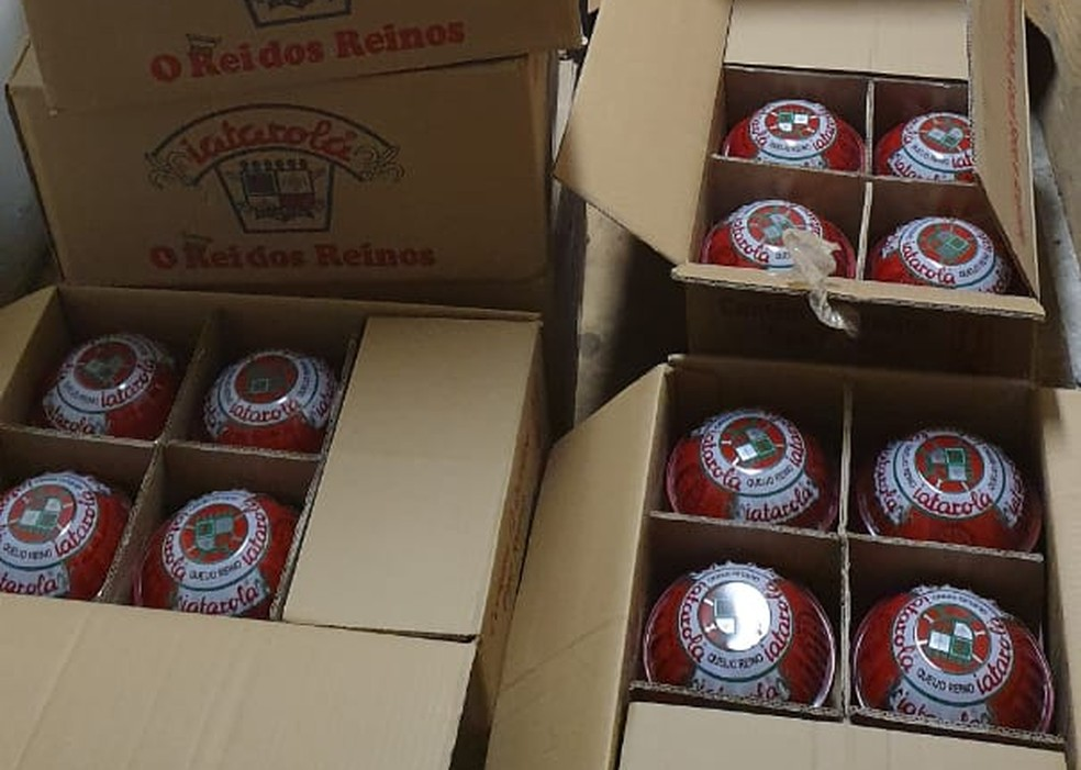 Carga de queijo do reino apreendida na Bahia  — Foto: Divulgação/SSP