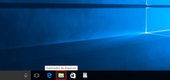 Executando o Explorador de Arquivos do Windows (Foto: Reprodução/Edivaldo Brito)