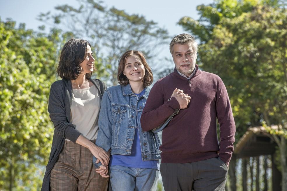 Mariana Lima, Letícia Colin e Fábio Assunção estão no elenco de 'Onde Está Meu Coração' — Foto: Fábio Rocha/ TV Globo