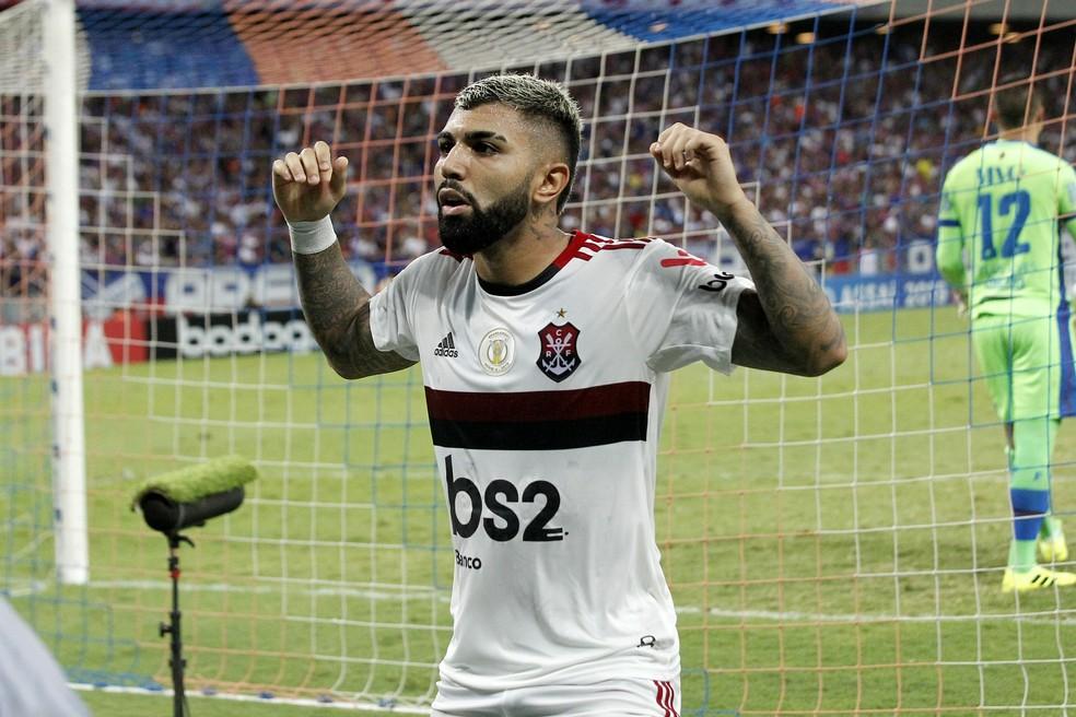 Gabigol é a esperança de gols do Flamengo diante do Grêmio — Foto: LC MOREIRA/ESTADÃO CONTEÚDO