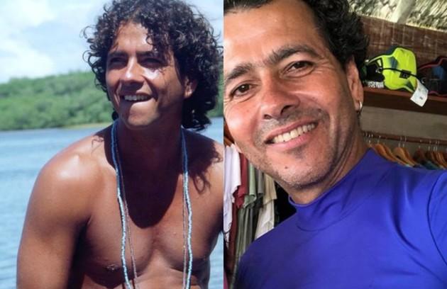 Marcos Palmeira deu vida ao pescador Guma, o mocinho. Frederico (Maurício Mattar) o encontrou ainda bebê em uma cesta. Ele  voltará ao ar em 'Dias felizes', próxima novela das 21h  (Foto: TV Globo)