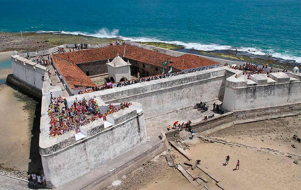 Fortaleza dos Reis Magos, na praia do Forte, é berço da história de Natal — Foto: Canindé Soares