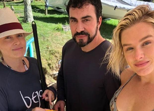 Angélica, Fabio de Melo e Fiorella (Foto: Reprodução)