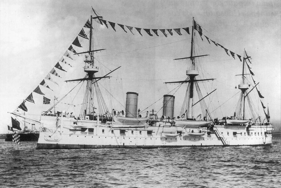 -  Caçadores de tesouro passaram décadas procurando navio naufragado Dmitrii Donskoi  Foto: Domínio público