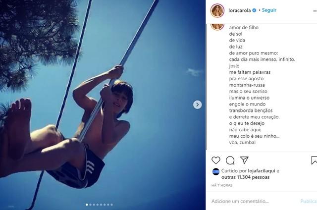Carolina Dieckmann homenageia o filho José (Foto: Reprodução Instagram)