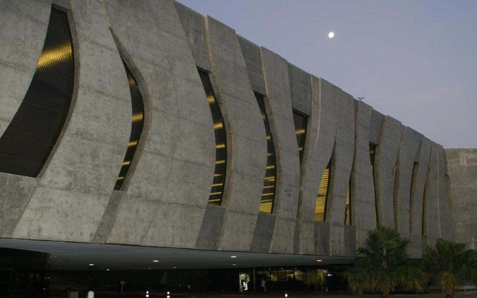 Fachada do Superior Tribunal de Justiça, em Brasília, durante fim do dia — Foto: STJ/Divulgação