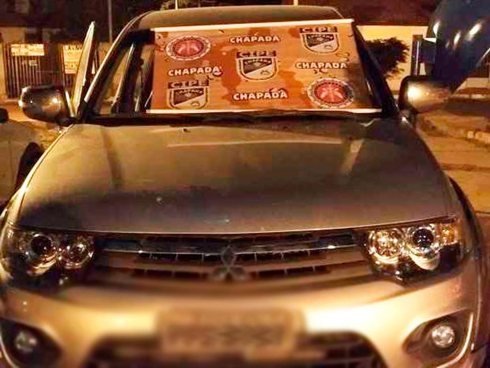 Veículo ficou apreendido após polícia descobrir adulteração (Foto: Divulgação/SSP)